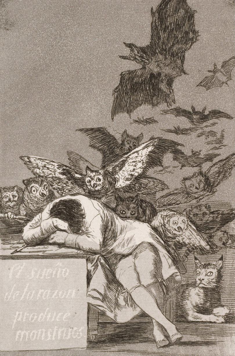 O sono da razão produz monstros, de Francisco Goya - ArtOut 🎨